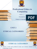 Ethics in Computing - Unit 3 and 4