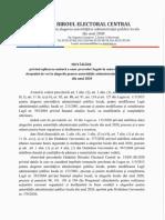 BEC - Hotărârea Biroului Electoral Central privind aplicarea unitară a unor prevederi legale în materia exercitării dreptului de vot la alegerile pentru adutoritățile administrației publice locale