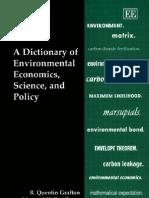 A Dictionary Of environmental economics