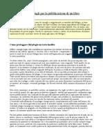 Informazioni e Consigli Pubblicazione (Rif Esord)