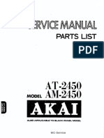 Akai AM2450 Amp Service Manual