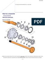 Rear hub, components