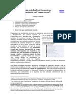 """Colombia en la Era Post Coronavirus. El """"nuevo normal""""- efectos de la pandemia y escenarios probables 2"""