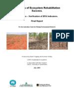 Indicators of Ecosystem Rehabilitation Sucess