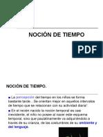NOCION TIEMPO