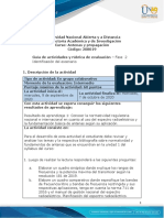 Guia de actividades y rúbrica de evaluación - Fase 2 - Identificación del escenario