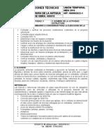 NUMERO DE LA ACTIVIDAD 3 - HITO ESTRUCTURA - ESPECIFICACIONES TECNICAS - 12-12-2017