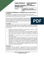 NUMERO DE LA ACTIVIDAD 5 - HITO HIDROS Y GAS - ESPECI TECNICAS - 12-12-2017