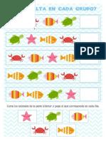Ficha animales marinos preescolar