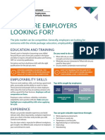 What employers are looking for (PDF)