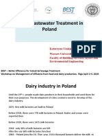 dairy wastewater treatment in poland