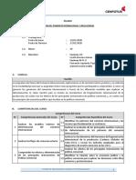 2020- Módulo I - Semana II - Fundamentos del Comercio Internacional - Economía Internacional  - Silabo