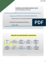 2020 -I  MET. INVESTIGACIÓN 2 PLANTEAMIENTO DE INVESTIGACIÓN