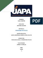 TAREA 9, PSICOLOGIA SOCIAL Y COMUNITARIA.docx