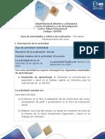 Guía de actividades-tarea - Reconocimiento del curso