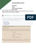 Guía 7° multiplicación de decimales. 3