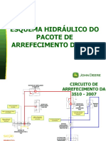 11104-ESQUEMA HIDRÁULICO DO PACOTE DE ARREFECIMENTO DA 3510