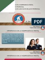 13  Independencia Mental, escepticismo y juicio profesional(1)