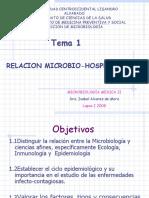 TEMA 1 RELACION MICROBIO-HOSPEDADOR