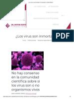 ¿Los virus son inmortales_ _ Fundación Dr. Antoni Esteve