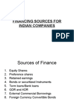 FINANCING SOURCES