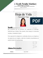 Hoja de vida de Anyis Yiceth Peralta Martínez