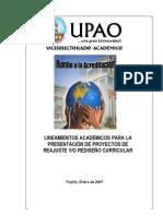 2_Lineamientos VAc para Presentación de Proyectos Curriculares