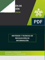 Presentación Técnicas de recolección de información