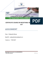 Assignment ON NEGOTIABLE INSTRUMENTS ACT