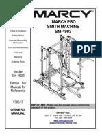SM-4903 Owner's manual