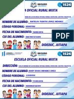 CALLE ARRIBA DE LA ESCUELA OFICIAL RURAL MIXTA DEL CANTON VALENCIA
