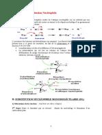 Réactions de Substitution Nucléophile
