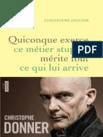 Quiconque Exerce Ce Metier Stupide -  Christophe Donner - epub