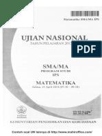 Contoh Soal UN Matematika SMA - MA Progam Studi IPS.pdf