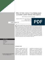 Chitosan Citric Acid Crosslink