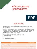MODULO 5 - RELATÓRIO+DO+EXAME+NEUROCOGNITIVO