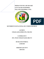 MOVIMIENTO ROTACIONAL DE CUERPOS RIGIDOS