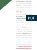 2015 AnnualReport, SENS Research Foundation