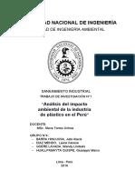 Análisis del impacto ambiental de la industria del plástico en el Perú