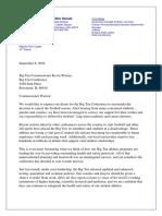 Letter to Big Ten Commissioner Kevin Warren