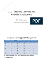 S 11 - Machine Learning and Financial Applications