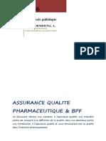 ASSURANCE QUALITE PHARMACEUTIQUE et BPF Mars 2016.pdf