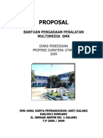 PROPOSAL PERALATAN MULTIMEDIA SMK 2009