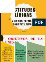 actitudes líricas y otros elementos