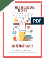 Cuadernillo 2do Grado Matematicas Secundaria Apoyo Contingencia 2020-2021