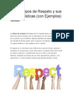 Los 10 Tipos de Respeto y sus Características