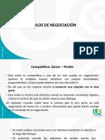 CLASE 2. ESTILOS DE NEGOCIACIÓN