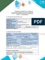 Guía de actividades y rúbrica de evaluación - Tarea 1 - Generalidades