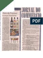 2007-06-01 - Festival enogastronômico - Rosés da Provence à mesa brasileira - Homero Sodré (Jornal do Commercio)