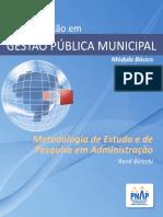 Metodologia de Estudo e de Pesquisa em Administração